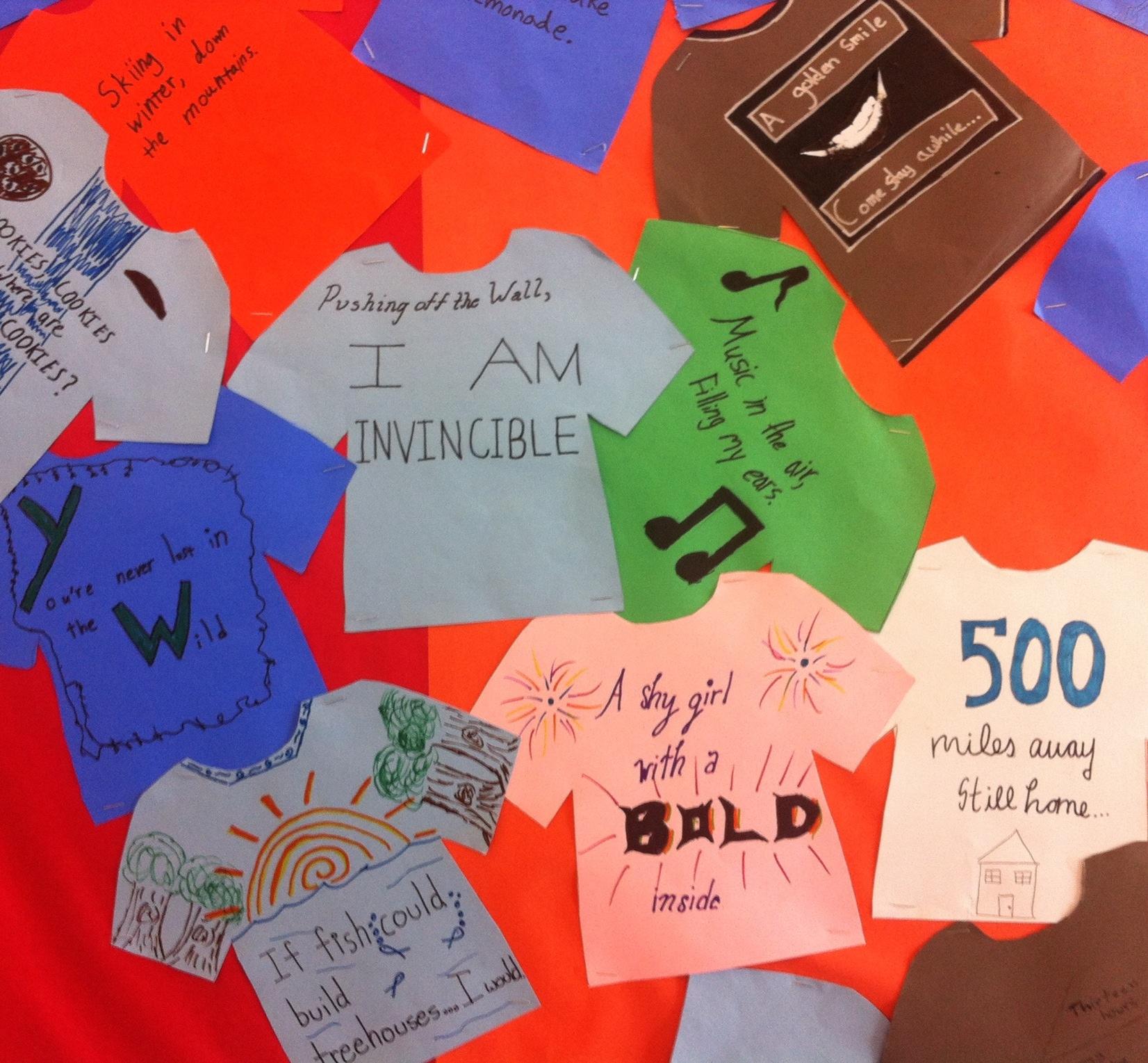 Great Bulletin Board Of 8th Graders Six Word Memoirs Karen Blumberg