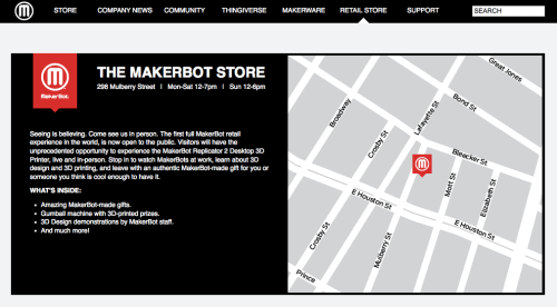 Makerbot retail store
